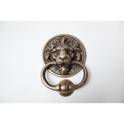 Lion brass knocker