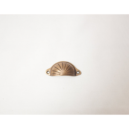Brass handle semicircular - small